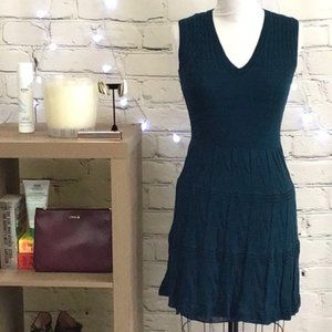 M by Missoni Teal Knit Sleeveless Dress Size S